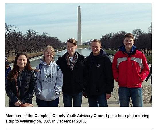 Youth Advisory Council Wash DC Dec 2016 with caption for website